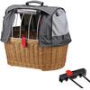 KlickFix Doggy Basket Plus Koszyk rowerowy do systemu Racktime brązowy
